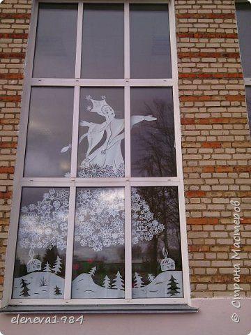Интерьер Новый год Вырезание Украшение школы часть 2 Бумага фото 2