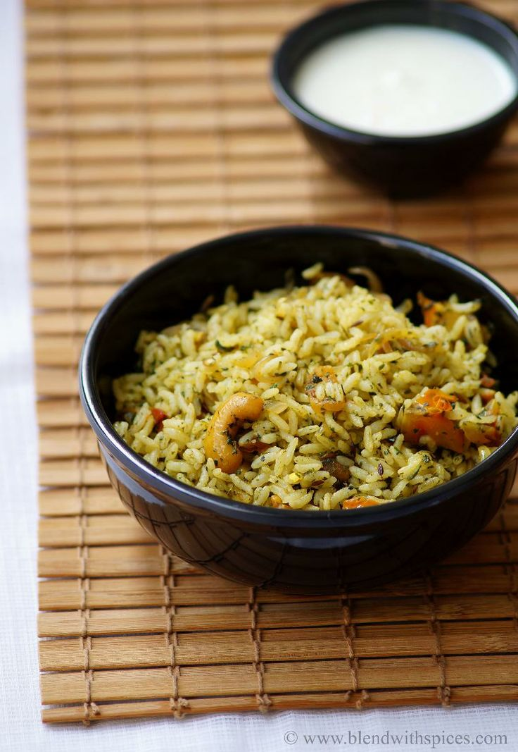 Pudina Rice Recipe - Mint Rice Recipe - Easy Lunch Box Recipes | Indian Cuisine
