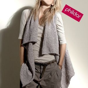 Image result for gilet long sans manches tricot
