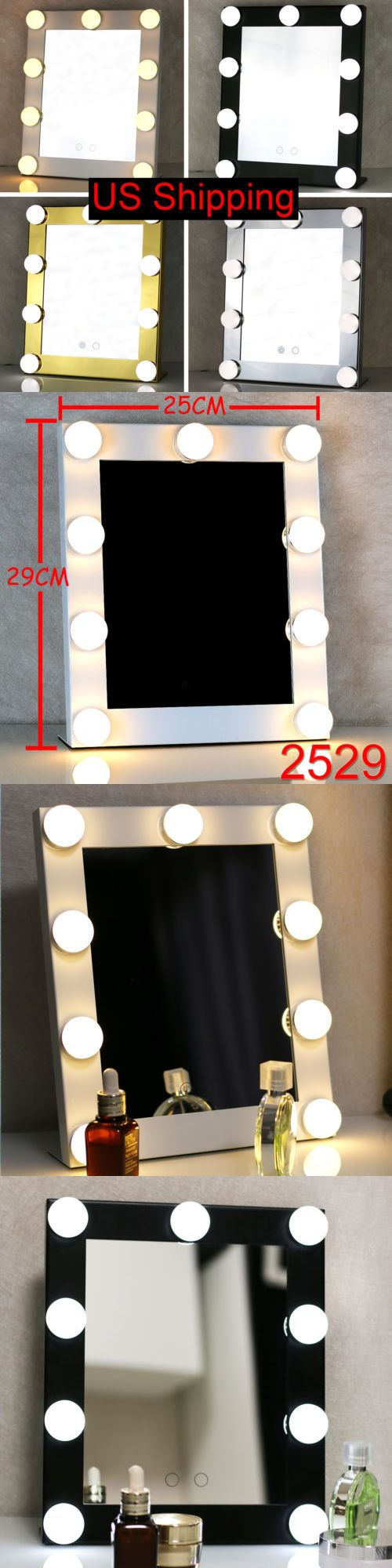 Makeup Mirrors: Vanity Lighted Hollywood Makeup Mirror With Lights Dimmer Stage Beauty Mirror BUY IT NOW ONLY: $49.68