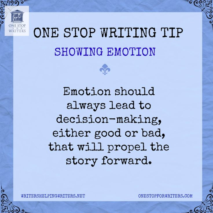 Emotional showing from One Stop For Writers http://www.onestopforwriters.com/