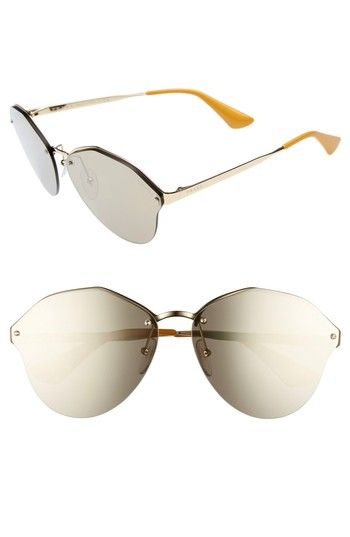 29221f6eb87 Free shipping and returns on Prada 66mm Oversize Rimless Sunglasses at  Nordstrom.com. An angular