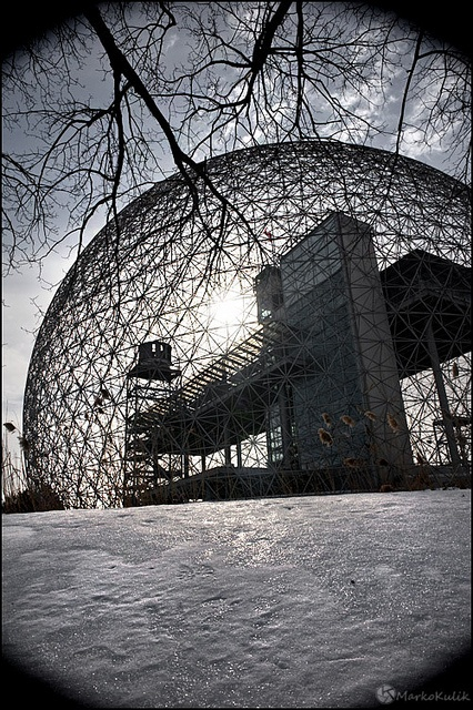 Montreal Biosphere, Canada - Winter, via Flickr.