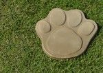 Huge paw print stepping stone mold.