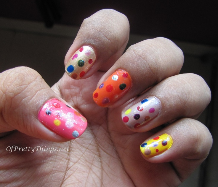 NOTD for Yesterday's Holi and Tomorrow's Easter