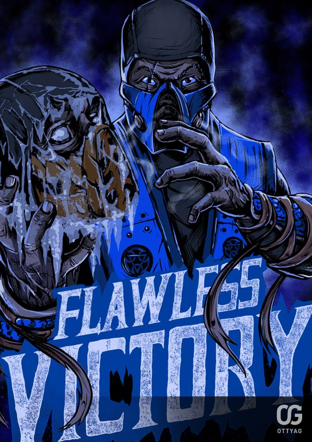 Sub-Zero: FLAWLESS VICTORY by Bakerrrr.deviantart.com on @DeviantArt