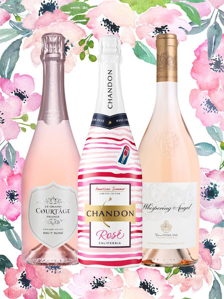 Splurge on a couple fancy bottles of rosé wines and get to toasting in a fancy way.
