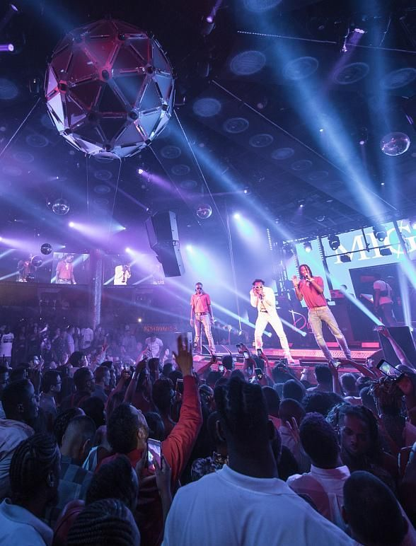 Hip Hop Trio Migos Perform Full Concert at Drai's Nightclub atop The Cromwell in Las Vegas