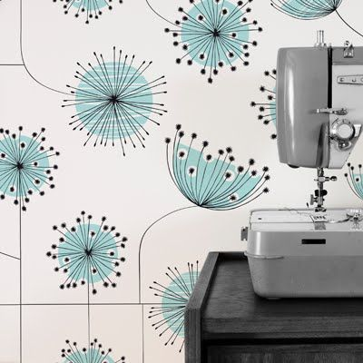 retro inspired dandelion wallpaper