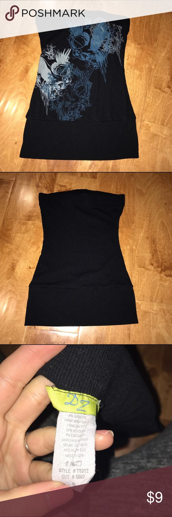 Black tube top Black tube top. Size S. 92% cotton. 8% spandex. Tops