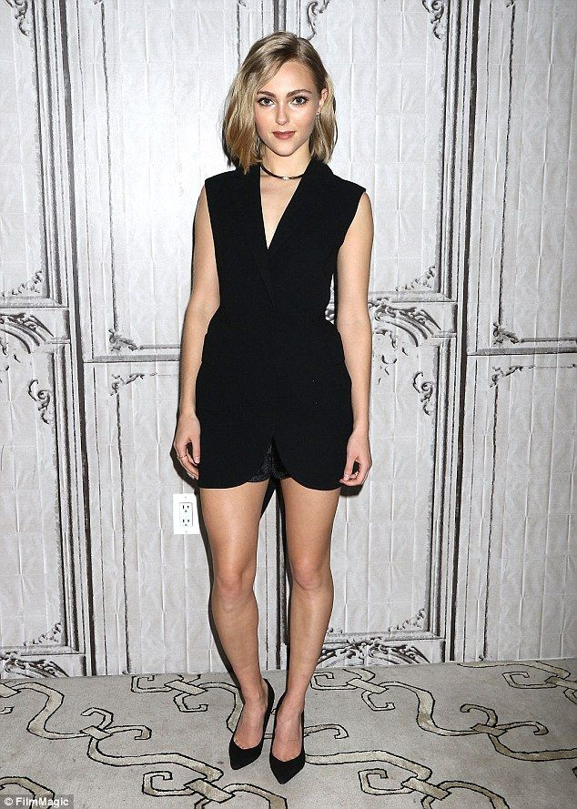 Legs eleven! AnnaSophia Robb showed off her legs in a long black tank and a pair of matchi...