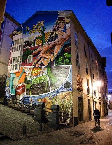 Murales en el casco viejo de Vitoria-Gasteiz