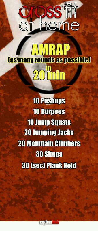 20 min routine for crossfit at home.