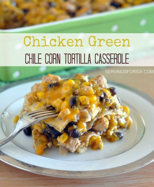 Green Chile Tortilla Bake Recipe — Dishmaps