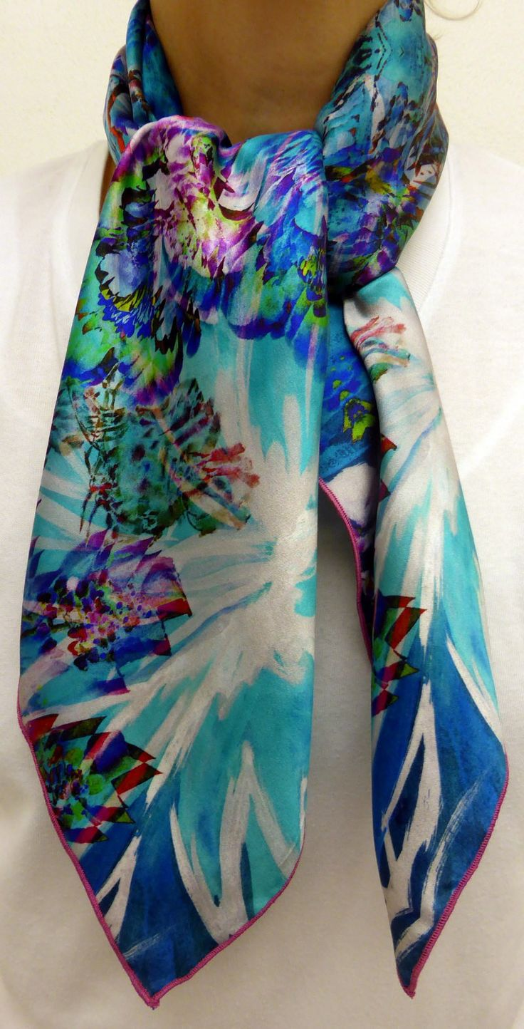 Nouveau  foulard  écharpe  soie par CB FOULARDS en soie  MadeinFrance   2ca48a81bb1
