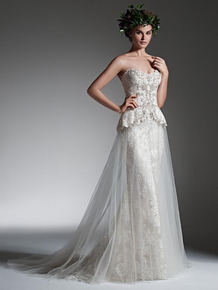 9 best Gowns Peplum images on Pinterest   Short wedding gowns ...