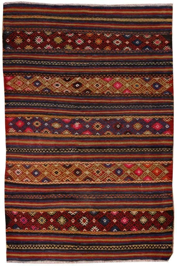 Kelim Rug Traditional Turkish Rug Boho Chic Home Decoration Cottage Area Rugs Coral Red Door Mats 3x5 Moroccan Rug on sale A4068 | The Orient Bazaar
