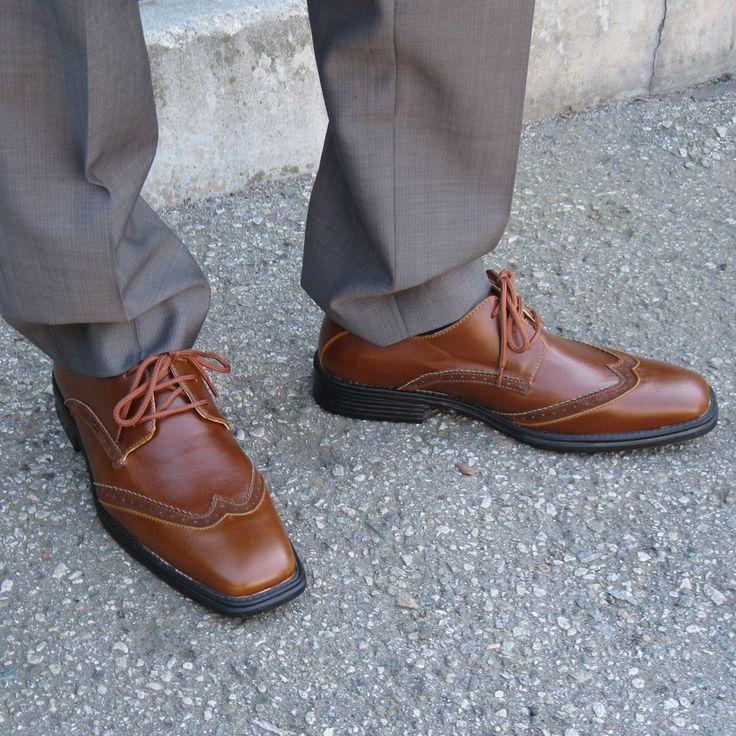 rocus carl s wingtip vegan dress shoe brown