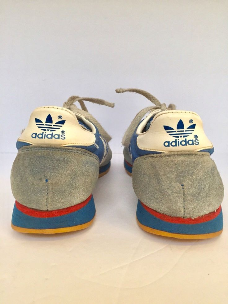 Vintage Adidas Dragon Blue White Stripes Shoes Sneakers Running