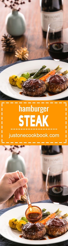Hamburger Steak (ハンバーグ) | Easy Japanese Recipes at JustOneCookbook.com