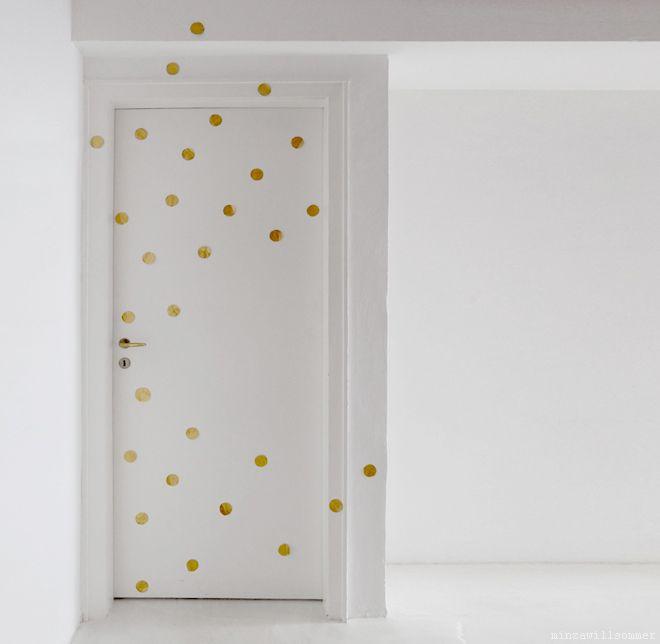 1000 bilder zu gold punkte dots auf pinterest - Goldene wanddeko ...