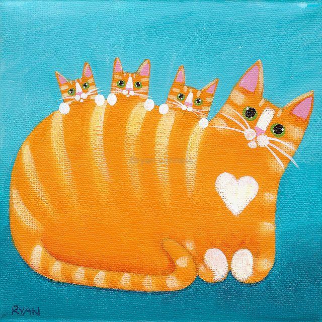 Mamá gata y sus gatitos by Ryan Conners