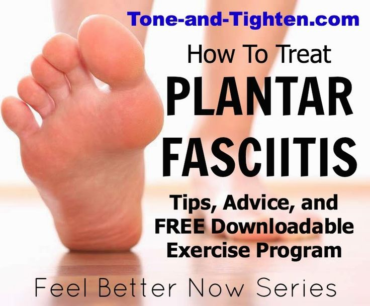 "Do you or someone you know suffer from plantar fasciitis? Get tips, advice and a FREE exercise program from the physical therapist at Tone-and-Tighten.com to help you ""Feel Better Now""."