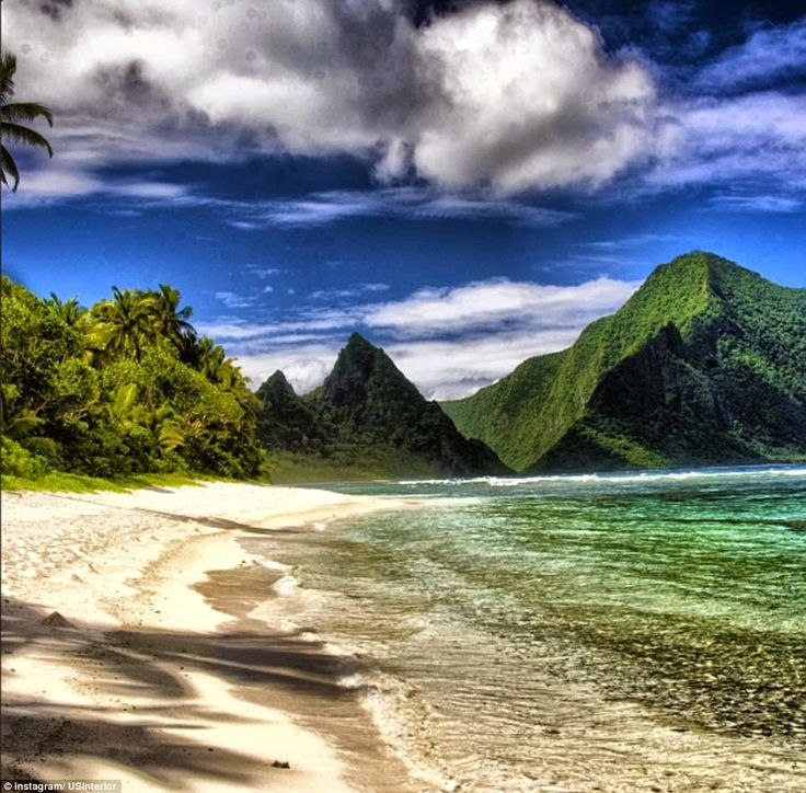 Samoa landscapes | American Samoa The white sand and tropical waters of the National Park ...