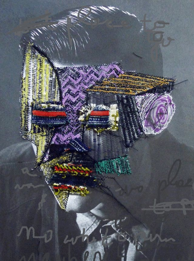 Embroidered Subversive Collages By Artist Jose Romussi