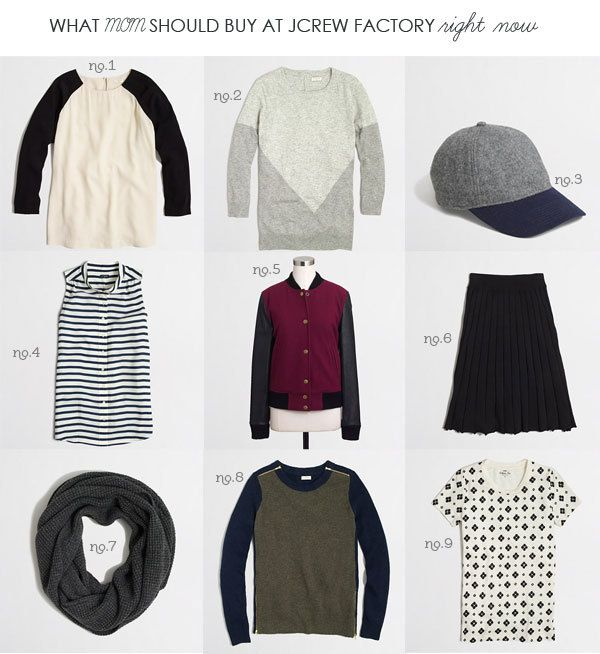 What to buy at J.Crew factory right now...found on Hellobee.com!