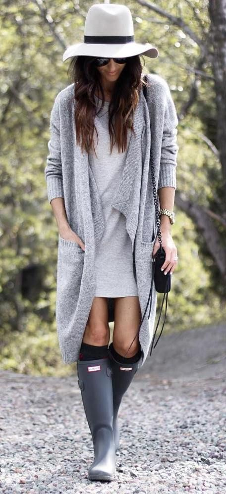 Cute outfit with hunter boots