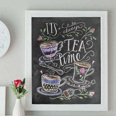 It's Always Time for Tea - Print by Valerie McKeehan