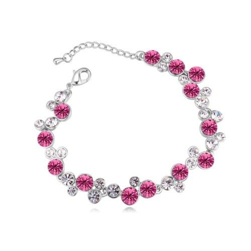 $14,1 Wedding flowers Swarovski crystal bracelet - Yohanna Jewelry Wholesale. BEST PRICE: Directly in the jewelry factory. VAT-free shopping: Available, partners based in the European Union, only applies to EU tax identification number (UID). Exclusive design SWAROVSKI crystals and AAA Zircon crystal jewelry and men's stainless steel jewelry and high-quality stainless steel jewelry for couples sell in bulk to resellers! Please contact us.