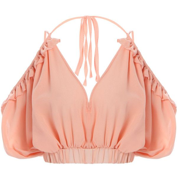Yoins Tube Top Plunge Halter Sexy Strappy Crop Top (255 MXN) ❤ liked on Polyvore featuring tops, crop top, shirts, crop, pink, sexy tube top, halter crop tops, tube top, red crop top and pink crop top