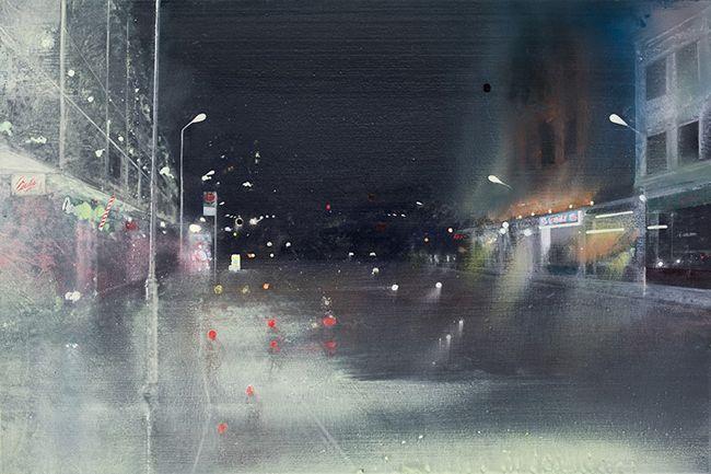 Roman Road, 2007, oil on canvas . Jock McFadyen