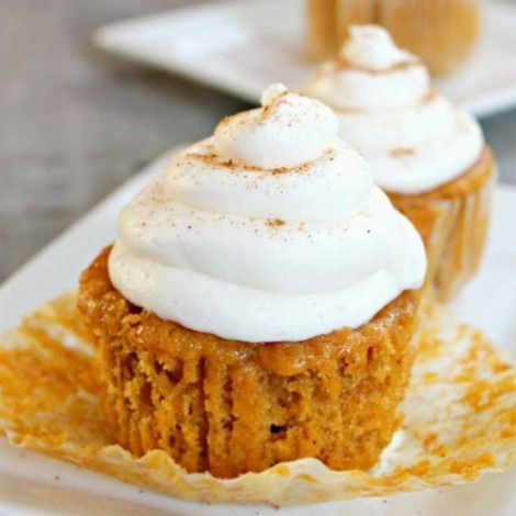 Makes 16 ( 1 cupcake with 1 T. Cool Whip Free = 3 Smart Points = 2 points +)   1 ( 15 oz) can pumpkin  1/2 c. sugar  1/4 c. brown su...