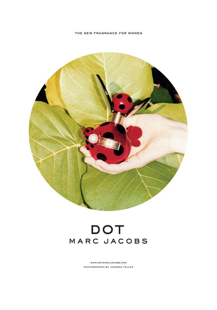 """Connect the Dots – Unveiling a new beauty campaign, Marc Jacobs presents its """"Dot"""" fragrance advertisement."""