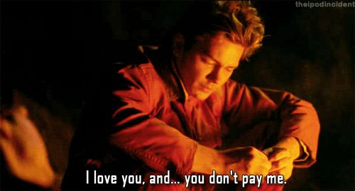River Phoenix as Mike Waters in My Own Private Idaho. One of ny absolute favorite scenes of the film. <3
