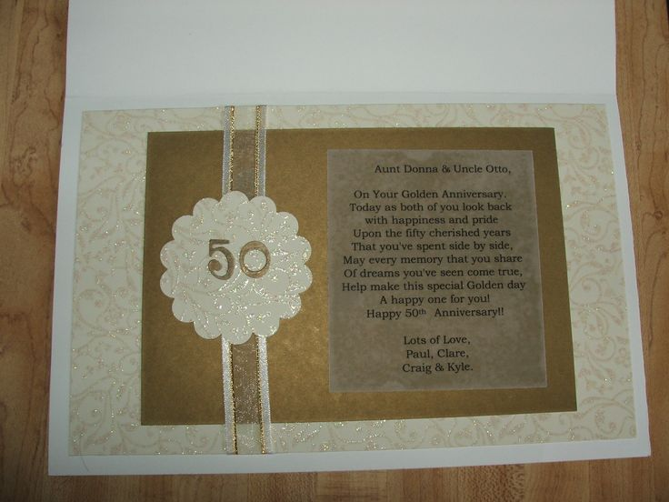 Gift For 50th Wedding Anniversary Ideas: 1000+ Ideas About Homemade Anniversary Cards On Pinterest