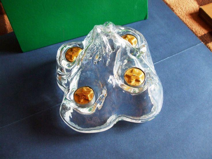 SEA Sweden Handmade Glass Iceberg Votive Candle Holder  Renate Stock ADVENT