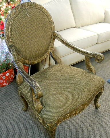 Chenille Brown Upholstered Arm Chair. Found At Design With Consignment In  Austin, Tx .