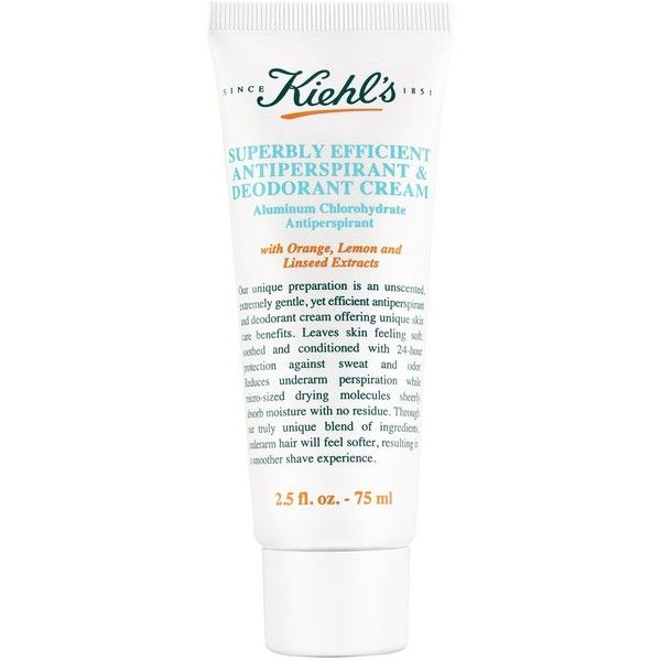 Kiehl's Since 1851 Superbly Efficient Anti-Perspirant & Deodorant ($17) ❤ liked on Polyvore featuring men's fashion, men's grooming, men's deodorant, cosmetics - kiehls and unscented men's deodorant