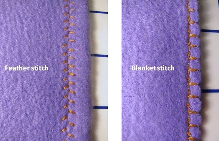 Optional edge finishes for fleece blankets using sewing machine utility stitches.