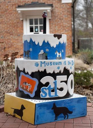 Bring your dog with you as you exchange your vows in West County St Louis.  #stl250 Find A Cake - Make A Date - Elope for $50. Museum of the Dog.
