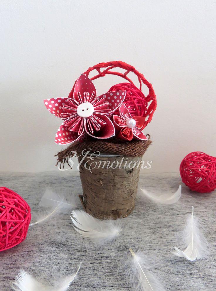 composition florale fleur en papier kusudama origami : Accessoires de maison par 31emotions