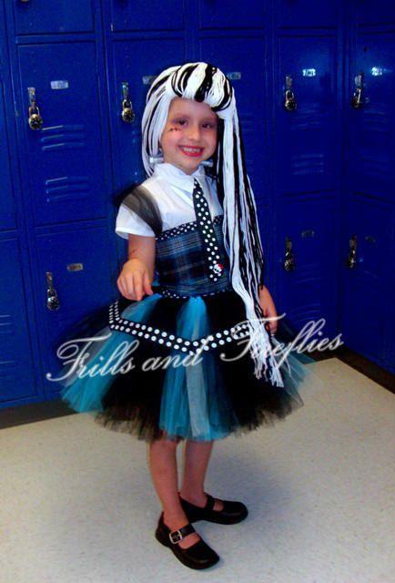 monster high frankie stein tutu costume set in blacks and bluesgreat halloween - Great Halloween Ideas