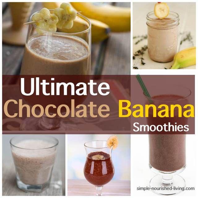 Chocolate Banana Smoothies  via @marthamckinnon/ // #smoothie #banana #chocolate