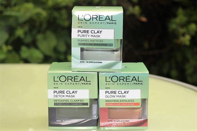 Clay mask fans, this is your lucky day! Here is a look at the brand new L'Oreal Paris Pure Clay Face Mask Range including 3 options, Purity, Detox & Glow.