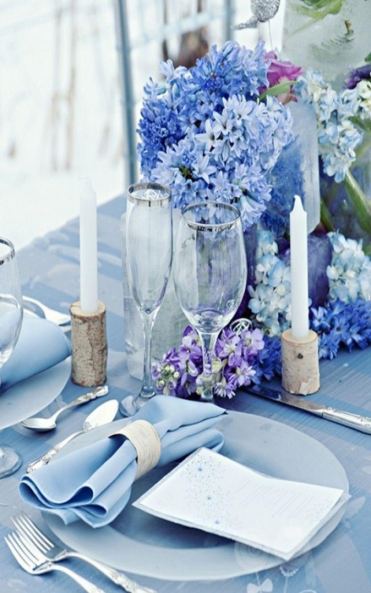 25 Όμορφες ιδέες για Διακόσμηση με λουλούδια, σε αποχρώσεις του μπλε!!