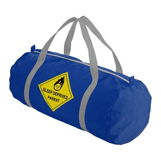 Colored Gym Bags ( Sleep Deprived Parent Gym Duffle Bag )